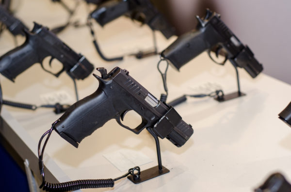 Handgun on display at the Tanner Gun Show